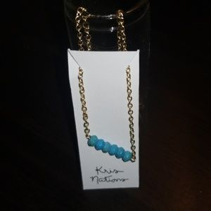🆕️ NWT! Turqouis Mystical Bar Necklace